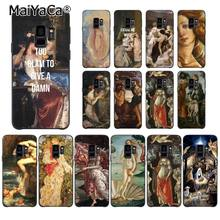 MaiYaCa Art Paintings The Birth Of Venus Phone Case for Samsung Galaxy S9 plus S7 edge S6 S10Plus S10lite S10E S8 plus(China)