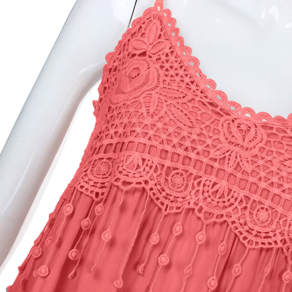 Women s Fashion Dress Sleeveless Summer Tassel Cotton Fashion Long Dress vestidos verano dress for