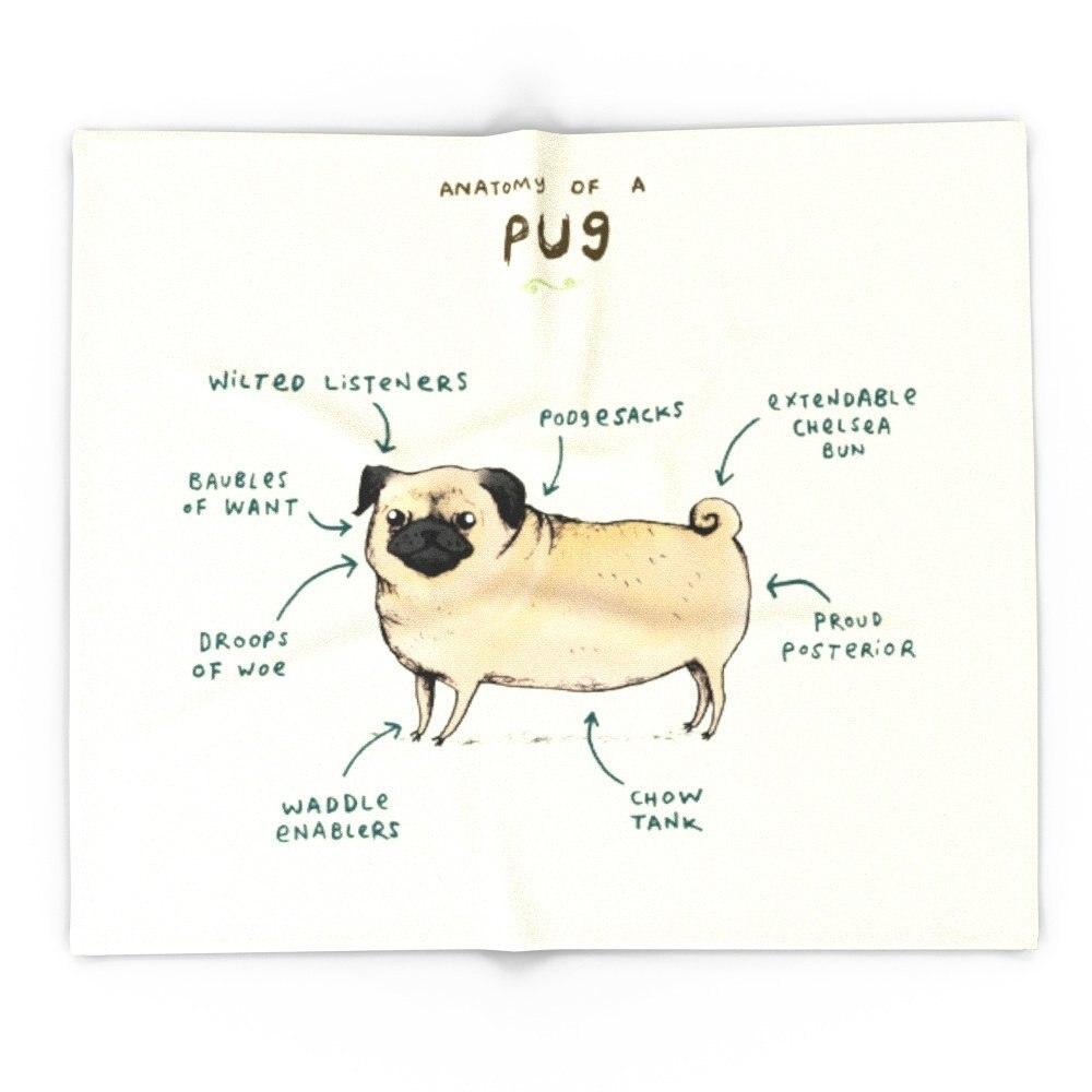 Blanket Custom Anatomy Of A Pug Fleece Blanket Sofa/Bed/Plane Travel ...