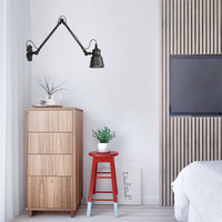 New Vintage Wall Lights Antique for Bedroom Reading Beside 220V Industrial Retro Sonce Wall Lamp Led Indoor Wandlamp Black