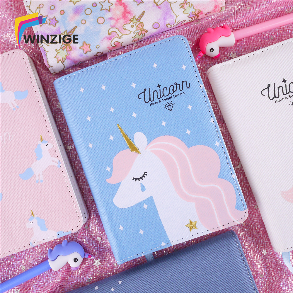Korean Kawaii Unicorn Notebook Bullet Journal Agenda Planner Cloth Cover Notebook Diary Monthly Weekly Planner Schedule ChanceryKorean Kawaii Unicorn Notebook Bullet Journal Agenda Planner Cloth Cover Notebook Diary Monthly Weekly Planner Schedule Chancery