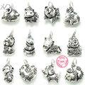 925 prata esterlina encantos jóias animais dos desenhos animados doze horóscopo chinês pequenos pingentes contas xd km316
