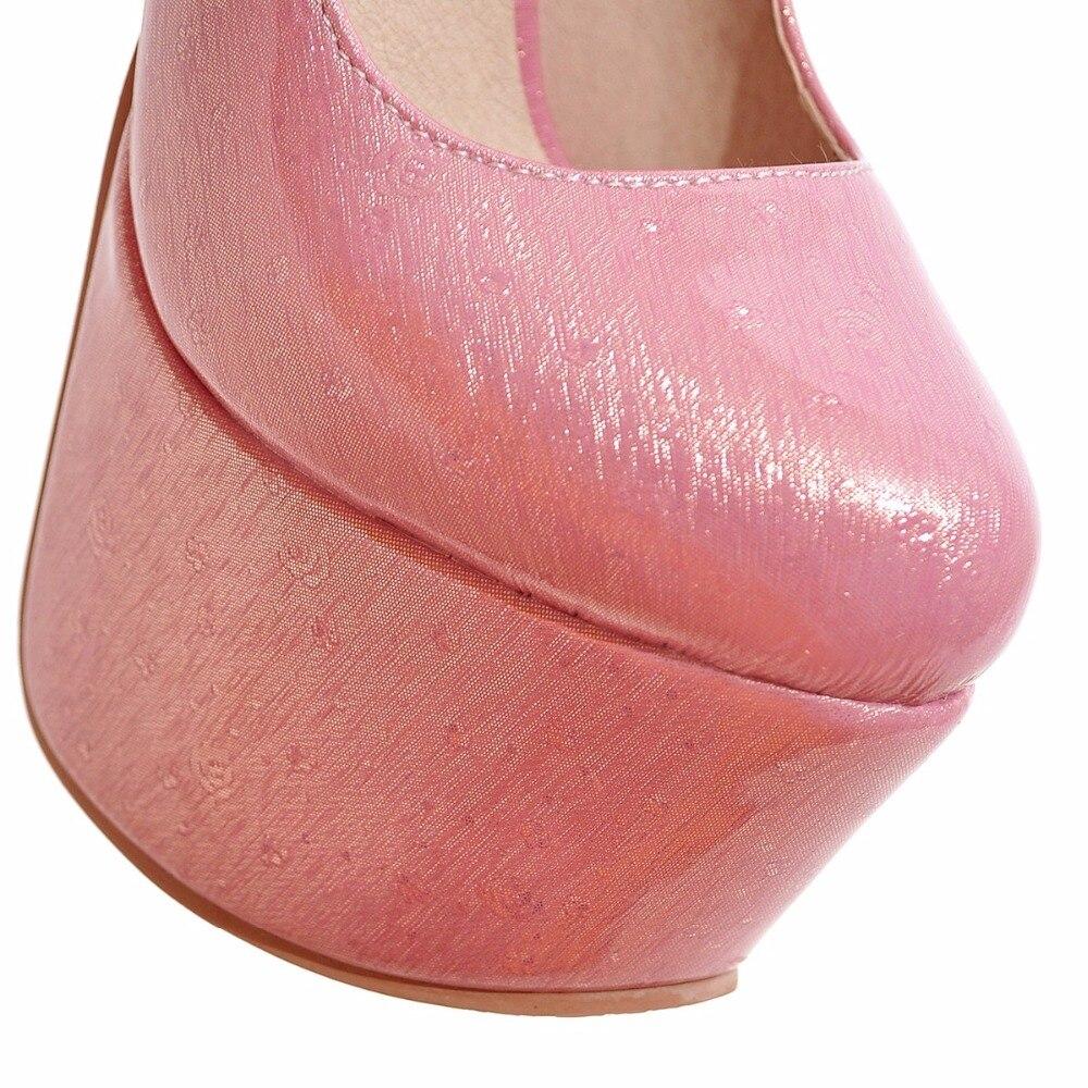 Chaussures Partie Femme show black Cuir Taille De 16 Mode Femmes beige forme Extreme Pink Pompes Sexy Talons Dames 46 Cm Plate Verni T En Mariage w4z80HzqAn