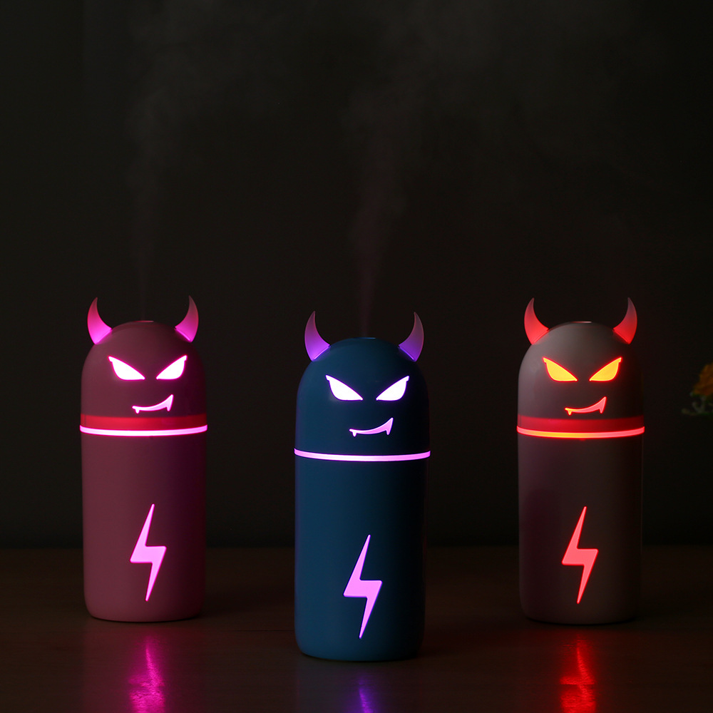 Creative gift Air Humidifier Magic Cow Style Essential Oil Aroma Diffuser with 7 Changing Led Night Light For Office Car Home ivyshion 1pc arotrerapy humidifier creative heart fireworks led night light air humidifier seven colors aroma diffuser for home