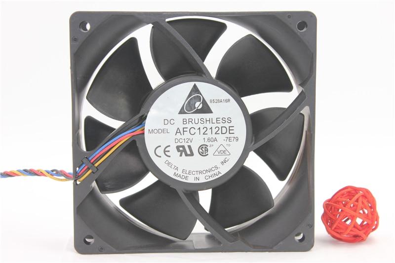 AFC1212DE 12038 12V 1.6A 12CM violent air volume temperature control pwm fan