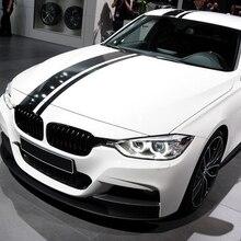 M производительности капот автомобиля крыши задний капот Полосы Виниловые наклейки в виде Фотообоев c переводными картинками Стикеры для BMW F30 F10 F20 F87 F22 F34 F32 G30 E60 E90 E46 G20 G05