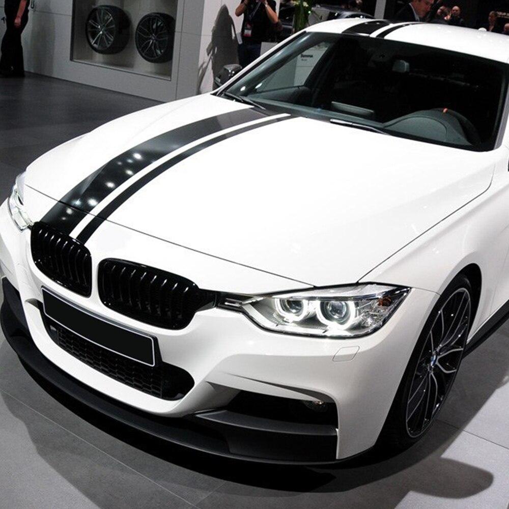 M Performance Capot De Voiture Toit Arrière Capot Rayures Vinyle Decal Autocollant pour BMW f30 f10 f20 f31 f01 f11 f25 g30 g11 e39 e60 e90 e46