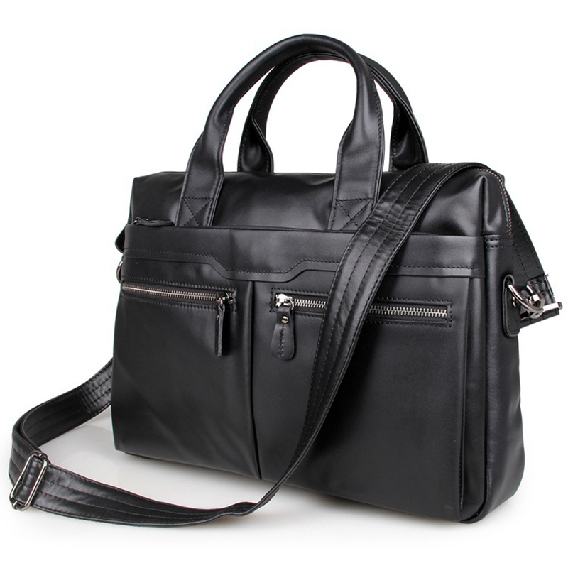 Cowhide Men Briefcase Genuine Leather Business Handbag Multifunctional Fashion Men Bag Fit For 15 Inch Laptop PR587122A aetoo with leather handbag section briefcase men and women fashion personality business package canvas laptop bag 15 inch