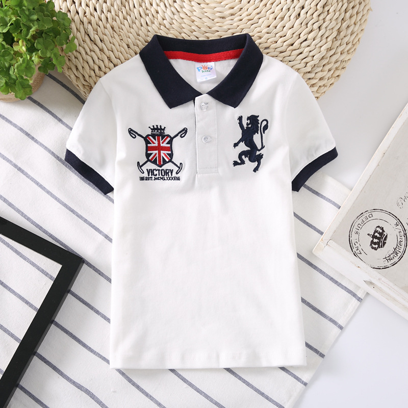 Summer Child Clothing Cotton Kids Boys Collar Polo Shirt Tops Baby Boy Sprots Shirts Lapel Odile Fabric Tee Fashion Clothes