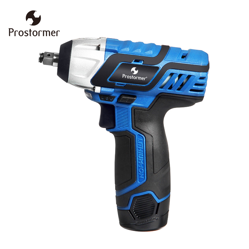 Prostormer Rechargeable Wrench Electric 12V DC Electric wrench 3/8 Inch lithium battery Cordless Wrench DIY Household tool