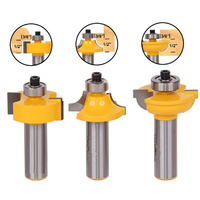 3pcs 1 2 Inch Shank Glass Door Router Bits Round Over Bead Woodworking Cutter For Power