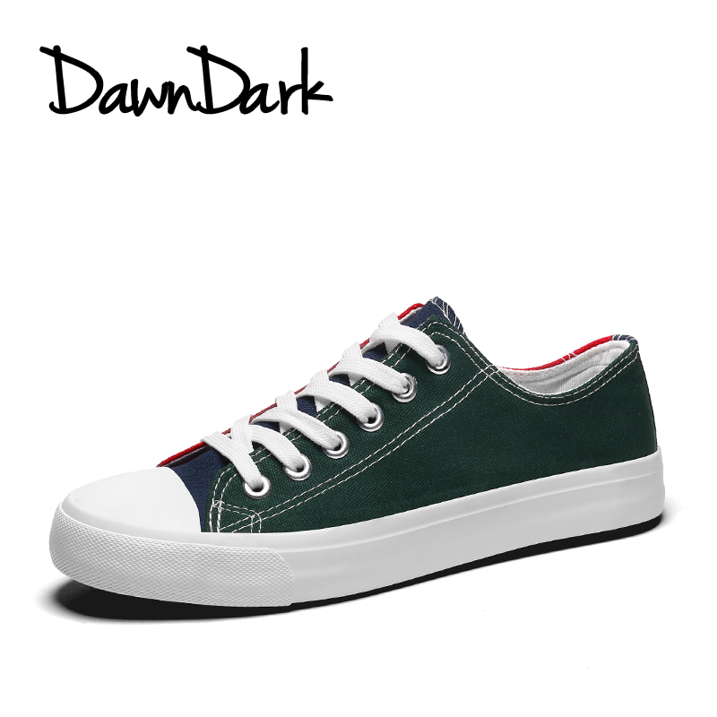 Casual Shoes for Men Lace Up Green Blue Walking Canvas Shoes for Men - Men's Shoes