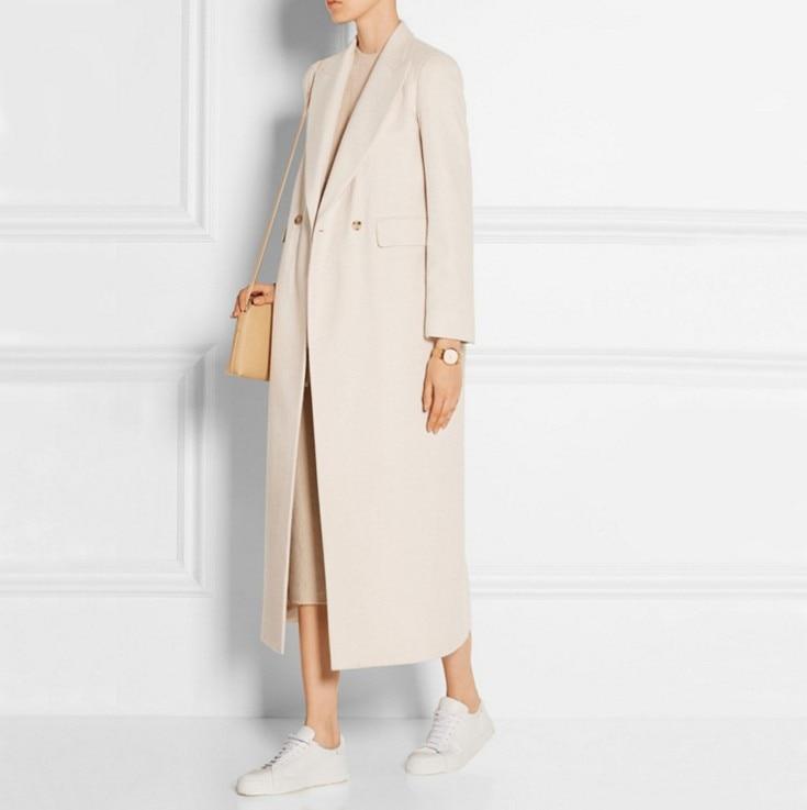 Manteau Hiver Cachemire Beife Manteaux Nouvelle Double Long Grande Pink En Tranchée Automne De Mode Laine Taille Femmes Boutonnage Décontracté FlK13TJc