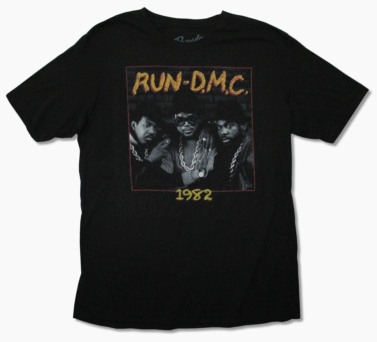 RUNER D.M.C. 1982 Черная футболка новый официальный взрослый рэп хип-хоп танец Группа Музыка рукавом летняя футболка Для мужчин футболки, топы, од...