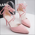 9cm Designer High Heels Sandals Shoes Women Sandals Sexy Open Toe Shoes with heels Women Lace Up Party dress Runway Shoes 2017