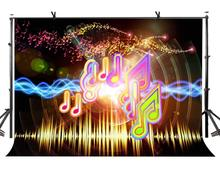 7x5ft Music Symbol Backdrop Theme Photography Background and Musical Party Props