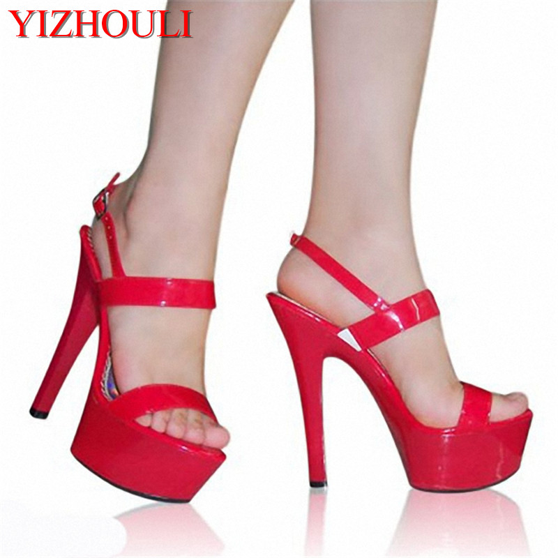 Office & School Supplies Liberal 2018 Hot Selling Women Nightclub Sexy Sandals 15cm Super High Heel Shoes Comfortable Waterproof Dance Shoes