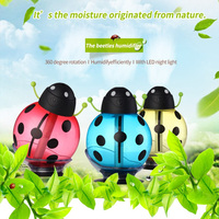 New 2018 Lovely Beetle Shape USB Sucker Humidifier And Car Mini Decoration Night Light