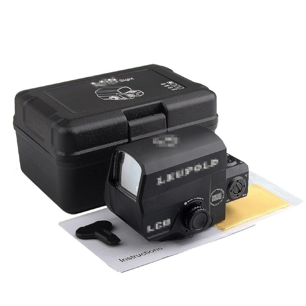 LCO Red Dot Sight Scope Mira Reflex com 20mm Rail Mount Vista Holográfica para a Caça Tático Airsoft RL5-0038BK