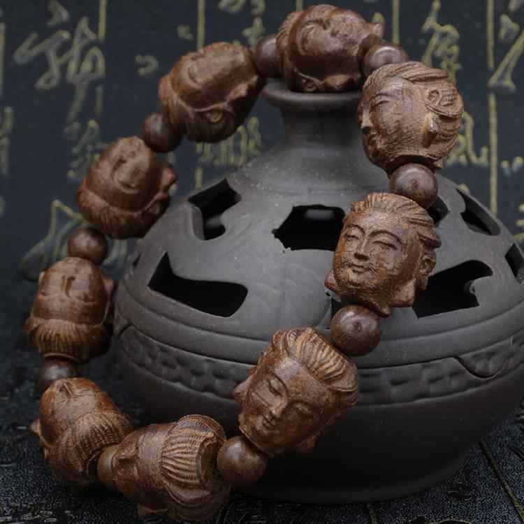 Wielokrotny wybór tybetański buddyjski Burried heban różaniec Mala bransoletka buddy różaniec drewniana bransoletka wysokiej jakości biżuteria