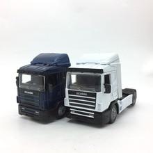 1:43 сверхмощный прицеп Транспорт сплав модель автомобиля для Scania длина 13 см