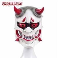 아야 Genji 피부 악마의 유령 마스크 코스프레 의상 액세서리 일본 반야 겁나 얼굴 커버 파티 게임 크리스마스 할로윈 소품