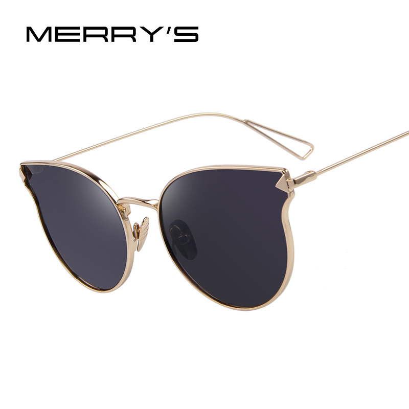 MERRY S Fashion Women Sunglasses Classic Brand Designer Sunglasses Coating  Mirror Flat Panel Lens Shades S 7842-in Sunglasses from Women s Clothing    ... d1fab26e61