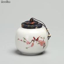 NOOLIM китайский стиль керамический чайный Caddy маленький мини портативный Пуэр зеленый чай герметичные банки резервуары для хранения путешествия чайный лист коробка