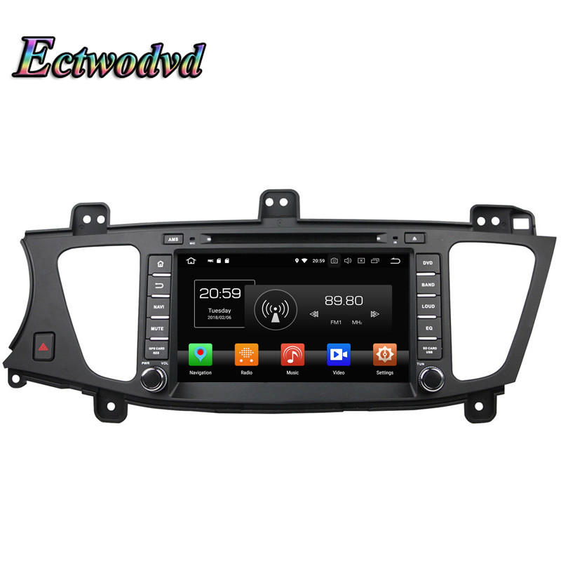 Ectwodvd Octa Core 4G Android 8.0/Quad Core Android 8.1 Car Multimedia DVD Player For KIA K7/Cadenza 2009 2010 2011 2012 GPS цена