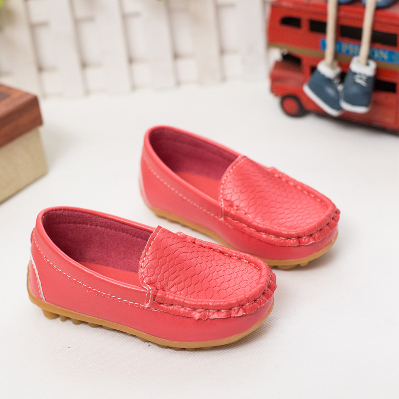 2018 Spring Summer New Children Casual Shoes Fashion Boys Girls Princess Shoes Bow Peas Shoes new kids students casual shoes