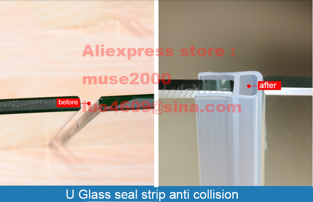 U Type Amortisseur Anti Collision Silicone Verre Joint Bande 6 8 10