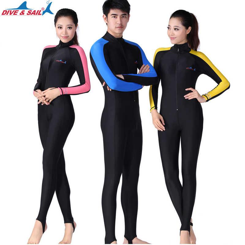 DIVE SAIL UPF 50+ Lycra Diving Wetsuit Scuba Snorkeling Diving Suit Men Women  Rash guard 41bf273db