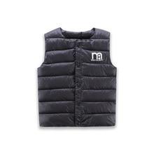 Kids Cotton Warm Vest Sweet Solid Waistcoat Outerwear 1-6 Years