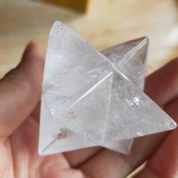5 см Натуральный прозрачный кристалл Merkabah, маятниковые кристаллические камни Merkaba, звезды, подвеска, ювелирное ожерелье, лечебные энергетич