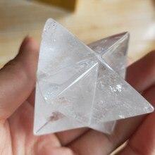 5 cm doğal temizle kristal Merkabah Sarkaç Kristal Taşlar Merkaba Yıldız Kolye Takı Kolye Şifa Enerji Mineraller