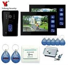 Yobang Security 7″ Color Screen Video Intercom Door Phone 2 Monitors Waterproof Visible wired Home door intercom doorphone
