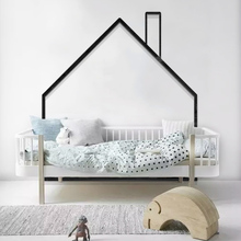 Original Nordic style Wall Sticker Childrens room bedroom Living decoration Full House cartoon 3D acrylic wall sticker
