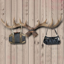 Wildlife Deer Antlers Rack Decorative Wall Hook Hangers Home Statue Collectible