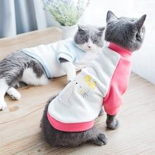 Divertido lindo gato gatito mascota vestido marea marca de ropa de invierno suéter marioneta pies cortos Británicos otoño gato Garfield