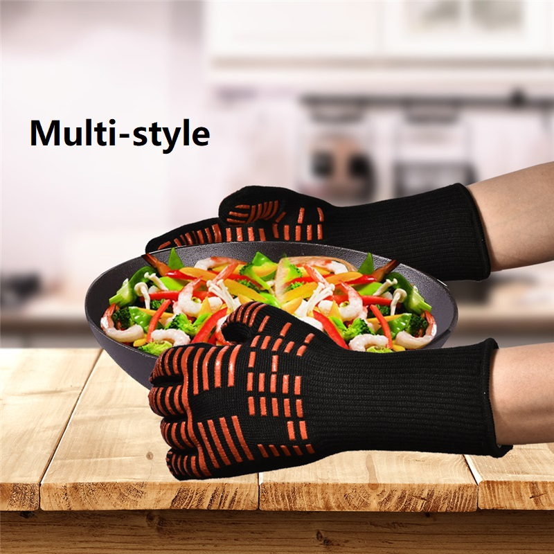 1pcs Microwave Oven Gloves High Temperature Resistance Non-slip Oven Mitts Heat Insulation Kitchen Cooking Grilling Gloves new design silicone bbq gloves grilling bbq gloves heat resistant gloves oven mitts en 407