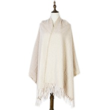 plain scarf shawl winter stoles fashion cashmere mujer warm wraps new punched capes gifts for family