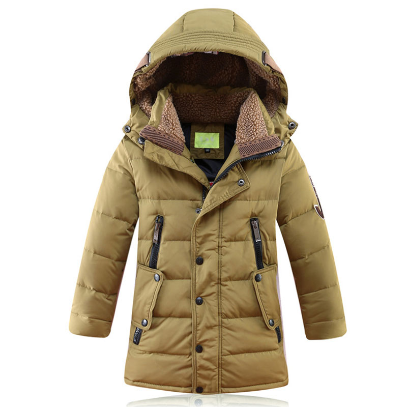 2017 fashion children winter thick feather jacket in the long section down jacket jacket casual hats down jacket 8 10 12 14 Y 5 down jacket jaxx пуховики в стиле пальто