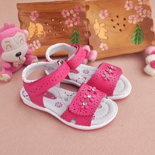 NEW 1 pair Flower Genuine Leather  Sandals Orthopedic Sandals Children