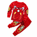 2015 new children's clothing for boys and girls fashion tracksuit Pyjamas cartoon pajamas two sets of 100% cotton