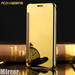 PCDIYGOBING Glitter Mirror Cover Flip Plating PU Leather Case For Xiaomi Redmi Note4 Pro Note4 Global Version Note 4X Pro