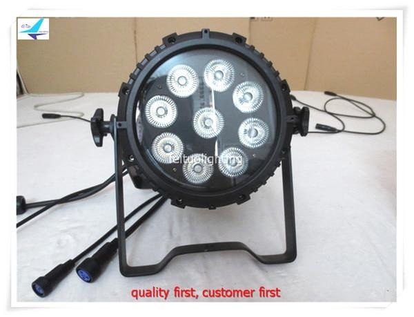free shipping 4pcs/lot LED Par Light 9x18w RGBWA UV 6IN1 Outdoor DJ Light Waterproof Par Can IP65 Par64 Lighting for Disco Party