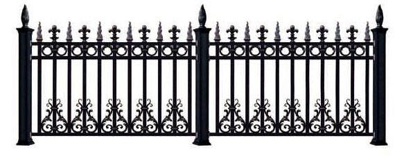 New Style Powder Coated Metal Aluminum Fence Designs Hc-af8