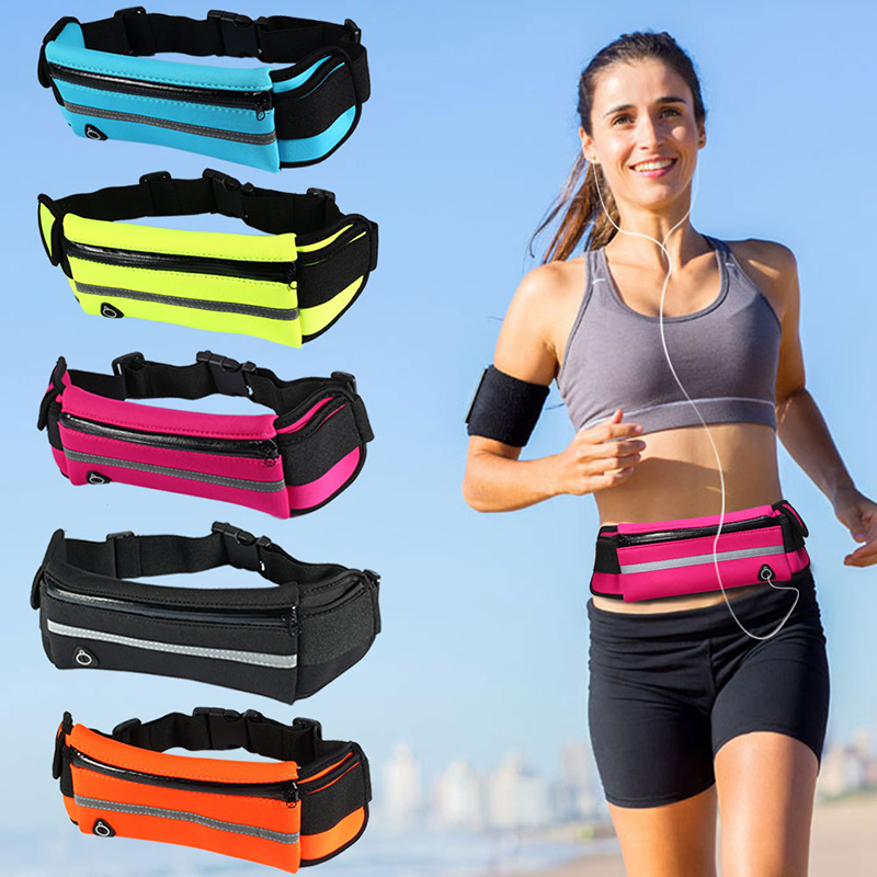 Bycobecy 2020 Large Capacity Protection Phone Coin Run Fanny Pack Multi-function Waterproof Outdoor Sports Men & Women Waist Bag