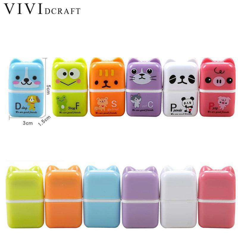 Vividcraft School Stationery Supplies 10 pcs/lot Creative Roller Eraser Cute Cartoon Mini Erasers Kawaii Children Student Gift цена