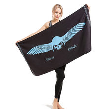 Wing Skull Printing Bath Towel Bathroom Super Absorbent Quick-drying Beach Towel Yoga Spa Outdoor Adult Women Man Movement Towel(China)